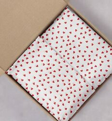 Designer Tissue Paper Red Hearts 20x30 Bulk Gift Wrapping Sheets $13.99