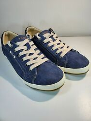 Taos Footwear Star Women#x27;s Size 9.5 Shoes Blue White Low Top Athletic Sneakers $24.99