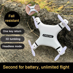 Mini Small Quadcopter Aircraft Hold Remote Control 2.4G Pocket RC Drone For Kids $21.99