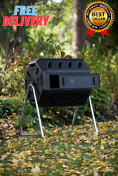 IM4000 Dual Chamber Tumbling Composter Black 28 x 36 x 30 inches $85.99