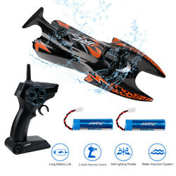 JJRC S6 RC Electric Boat High Speed Racing Boat Black with 2.4GHz Remote Control $30.39