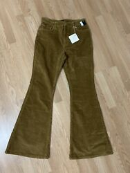 LEE Vintage Modern NWT BELL BOTTOM Flare Corduroy Free People Jeans Size 31 $50.00