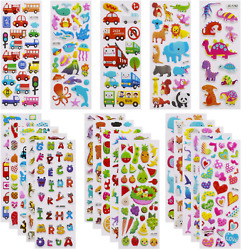 3D Stickers for Kids Toddlers 550 Vivid Puffy Kids Stickers 24 Different 3D for $8.81