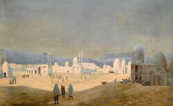 Large art Oil painting cityscape of Muslims in the Middle East hand painted $101.99