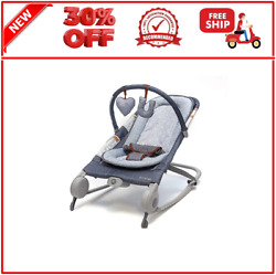 2 in 1 Baby Bouncer amp; Baby Rocker Duo Heather Gray with Soothin... $75.99