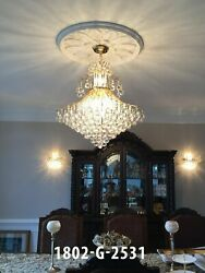 ASFOUR CRYSTAL FOYER DINING LIVING ROOM KITCHEN ISLAND CHANDELIER 15 LIGHT 31quot; $1081.20