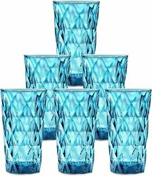 Chef#x27;s Star 13 Oz Water Glasses Glass Cups Heavy Blue 6 Pack 12 Pack $48.89