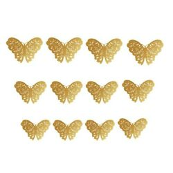12Pcs 3D Butterfly Wall Stickers Paper Room Decal Children Home Decor DIY USA $5.93