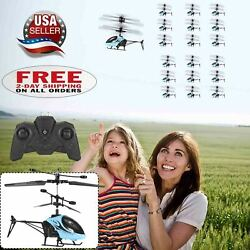Kids Children Flashing Helicopter Drone Flying Toys Plane Gifts w Remote Control $14.77