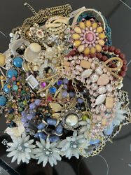 Jewelry Vintage Modern Huge Lot Craft Junk Wearable Over One Full Pound $24.00