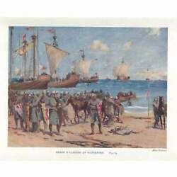 IRELAND Henry II Landing at Waterford Antique Print 1914 GBP 5.95