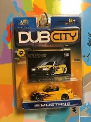 JADA 2004 DUB CITY FORD MUSTANG #56 YELLOW WITH FLAMES FREE SHIPPING $9.99