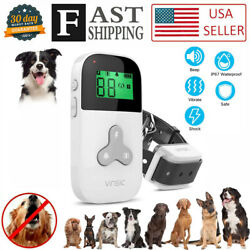 328 Yards Remote Dog Training Shock Collar Rechargeable Waterproof Collar pet $15.99