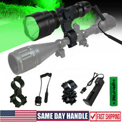 500 Yards Red Green LED Coyote Hunting Flashlight Weapons Scope Mount Gun Light $21.99