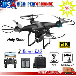 Holy Stone HS120D 2K HD Camera FPV Drone GPS FPV RC Selfie Quadcopter2 Battery $149.99