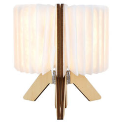 Wooden Paper LED Folding Book Lamp USB Rechargeable Night Light For Reading GDT $28.58