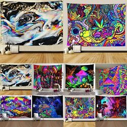 Psychedelic Abstract Tapestry Wall Hanging Living Room Decor Hippie Bedspread US $17.38