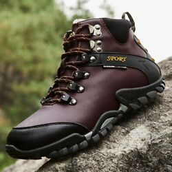 Leather boots hiking for men hiking mountains winter hiking and snowshoeing $49.20