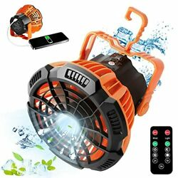 Portable Camping Fan with Led Lantern Rechargeable Tent Fan with Remote Contr... $33.18