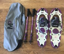 Yukon Charlie#x27;s MP Mountain Profile Snowshoes with Poles amp; Carrying Bag $70.00