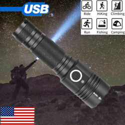 Most powerful 90000LM LED Flashlight On or off click Telescopic focusing SE $18.08