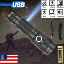 Most powerful 90000LM Flashlight On or off click Telescopic focusing Charger SE $27.67