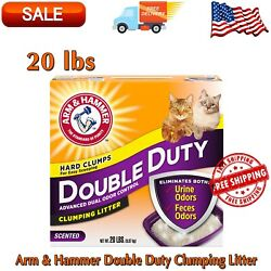 Double Duty Clumping Cat Litter 20 lbs Box Fresh Scent 99% Dust Free Clean $11.99