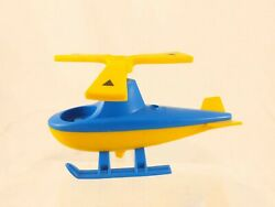 Vintage Toddler Toy Helicopter Blue Yellow 5.5quot; Long $7.00