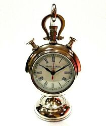 Vintage Style Maritime table clock desk Chrome decor watch stand hanging gift $69.99