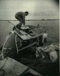 1980 Press Photo Sheriff Duffy Breaux at Helicopter Accident in Lafourche Parish $19.99
