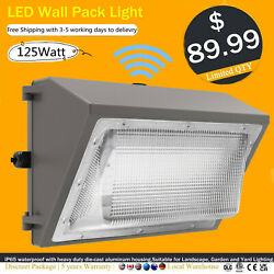IP65 Wall Pack LED Light 5500k Dusk to Dawn Outdoor Commercial Lighting 125W