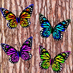 3D Metal Butterfly Wall Accents Wall Art Decorations Hanging for Kitchen Outdo $23.94