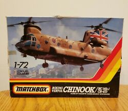 NEW amp; COMPLETE Vintage Matchbox Boeing Vertol Chinook Helicopter Model PK 413 $23.99