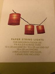 Target Sean Conway Garden Style Paper String Red Lights 2003 Working $9.99