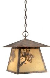 Yellowstone One Light Outdoor Pendant 11 Inches Wide by 12.25 Inches High Olde $92.80