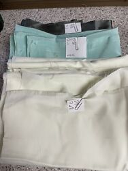 vintage material fabric lot shades of green sewing crafting quilting $12.00