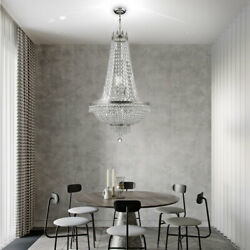 French Empire Crystal Chandelier Antique Vintage Ceiling Lighting Pendant Lamp $215.00