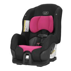 Evenflo Tribute LX Harness Convertible Car Seat Solid Print Black Pink Durable $98.97