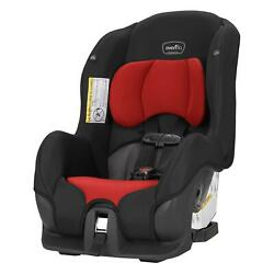 Evenflo Tribute LX Harness Convertible Car Seat Solid Print Black Red Cmfortable $128.79