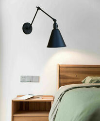 Industrial Adjustable Swing Arm Wall Sconce Light Bedroom Wall Lamp With Switch $39.99