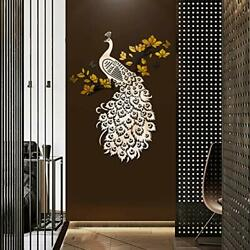 Doeean Peacock 3D Wall Decor Wall Decals Wall Decorations Wall Stickers $46.91