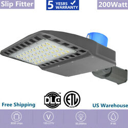 NEW Outdoor Commercial Lights 200W LED Parking Lot Light Street Pole Lights USA