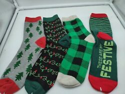 Made for Retail Men#x27;s Novelty Socks Holiday 4PK Size 10 13 $9.99