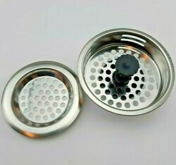 Stainless Steel Sink Strainers 2 Pack Kitchen Filter Drain Food Catcher Plunger $11.99
