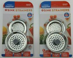 Stainless Steel Sink Strainers 4 Pack Kitchen Filter Drain Food Catcher Plunger $14.99