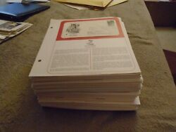 210 FDCs ALL WITH CACHETS ON PAPER WITH A PARAGRAPH 200OFF PAPER SINGLES $95.00