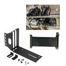Vertical GPU Mount Bracket Graphic Card Holder w PCI E 3.0 X16 Extension Cable $21.84