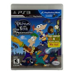 Phineas and Ferb Across the 2nd Dimension PS3 PlayStation 3 2011 CIB Tested $8.95