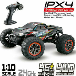 Electric RC Monster Truck Car 1:10 Scale 4WD 2.4Ghz Off road Remote Control Car $99.94