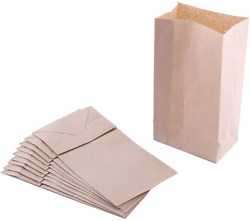 Extra Small Brown Paper Bags 3 x 2 x 6quot; party favors Paper Lunch Bags Grocery $12.29